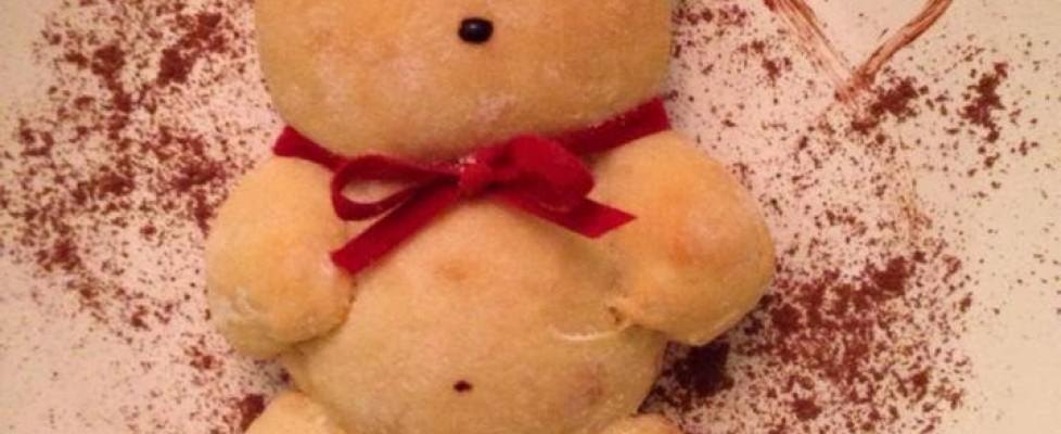 Ursinho com pão de queijo