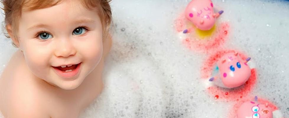 Diversão na hora do banho
