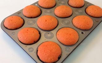Cupcakes na forma de aluminio