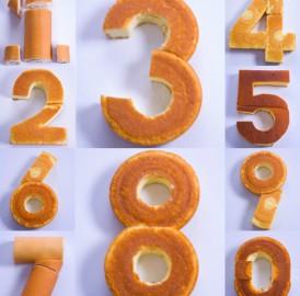 Bolo de aniversário com números