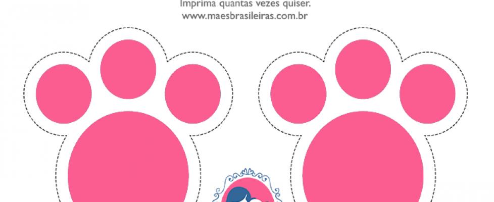 Patinhas De Coelho E Mascaras Para Imprimir
