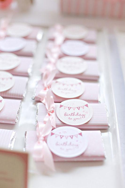 Lembranças de festa rosa
