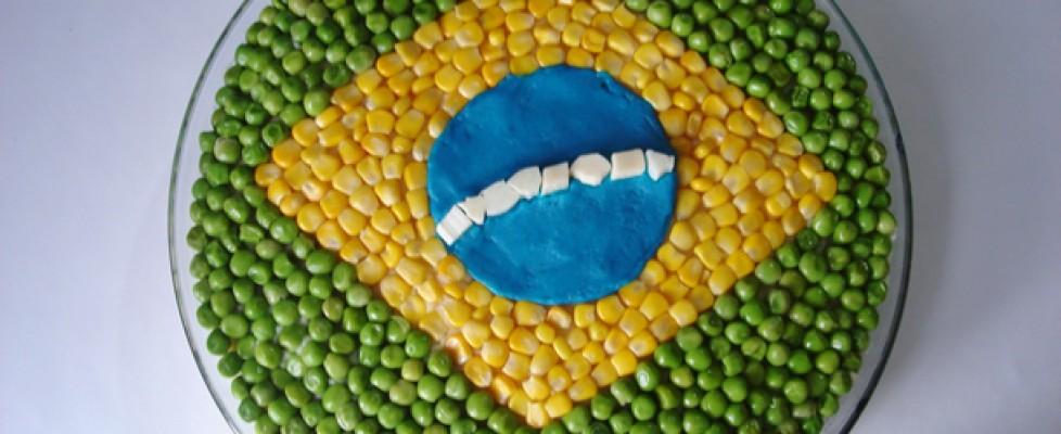 Torta de Frango no clima Copa do Mundo Brasil