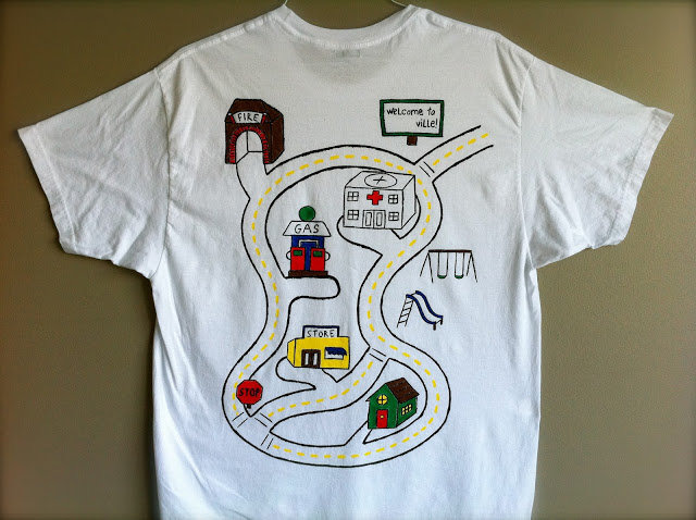 Tutorial: camiseta pista de carro
