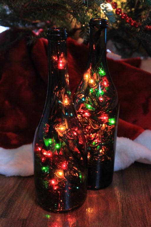 Garrafa com luzes de natal - Faça você mesmo
