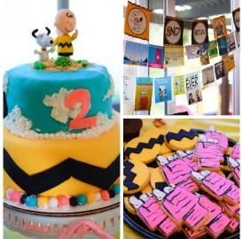 Tema de aniversário: Snoopy e Charlie Brown