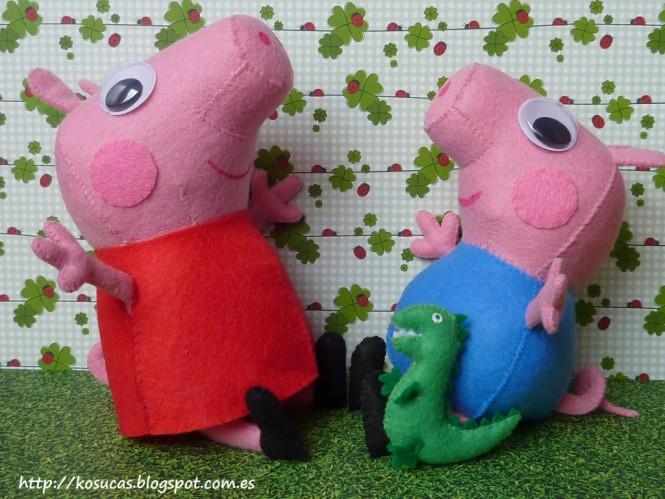 Peppa Pig - Como fazer a pelúcia - Molde