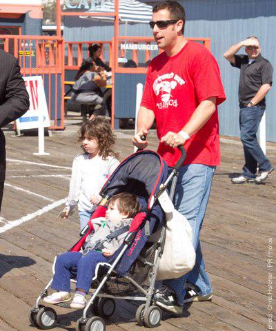 Adam Sandler com o filho