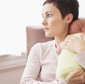 Quando uma mulher tem um bebê, fica invisível …