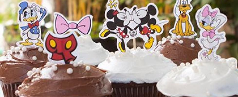 Tottens para Cupcake Mickey Mouse e seus amigos – Para imprimir