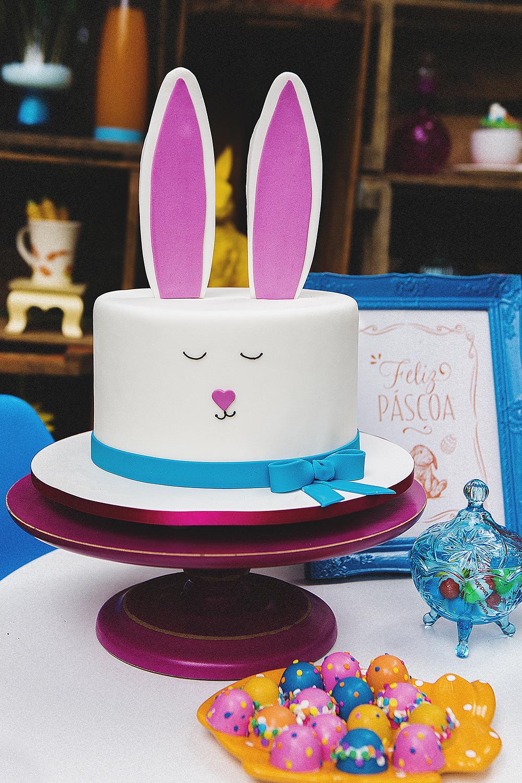 Decoração de Páscoa bolo
