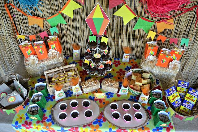festa-junina-ideias-lindas-de-decoracao mesa decorada