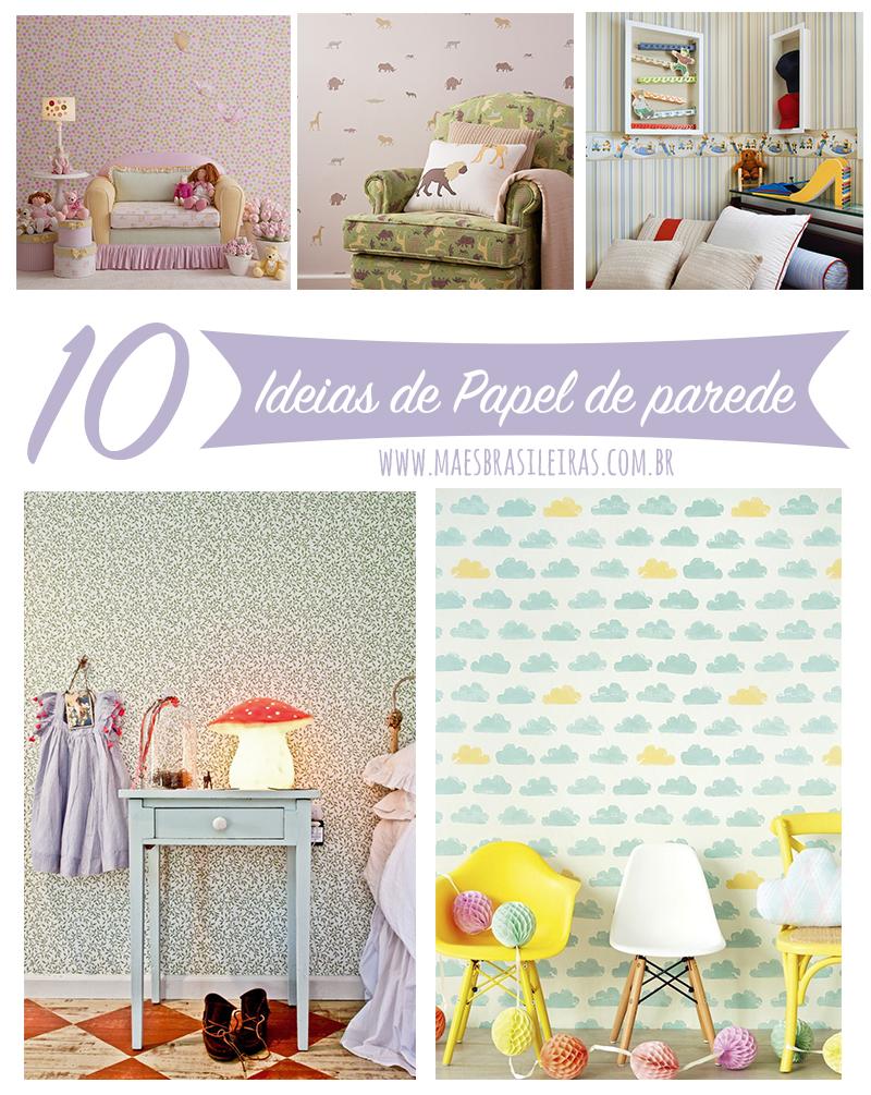 10 ideias de papel de parede para quarto infantil