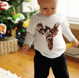 Renna T-Shirt – Personalizando roupa do bebê para o Natal