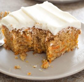 Receita de bolo de cenoura com cream cheese – Americano