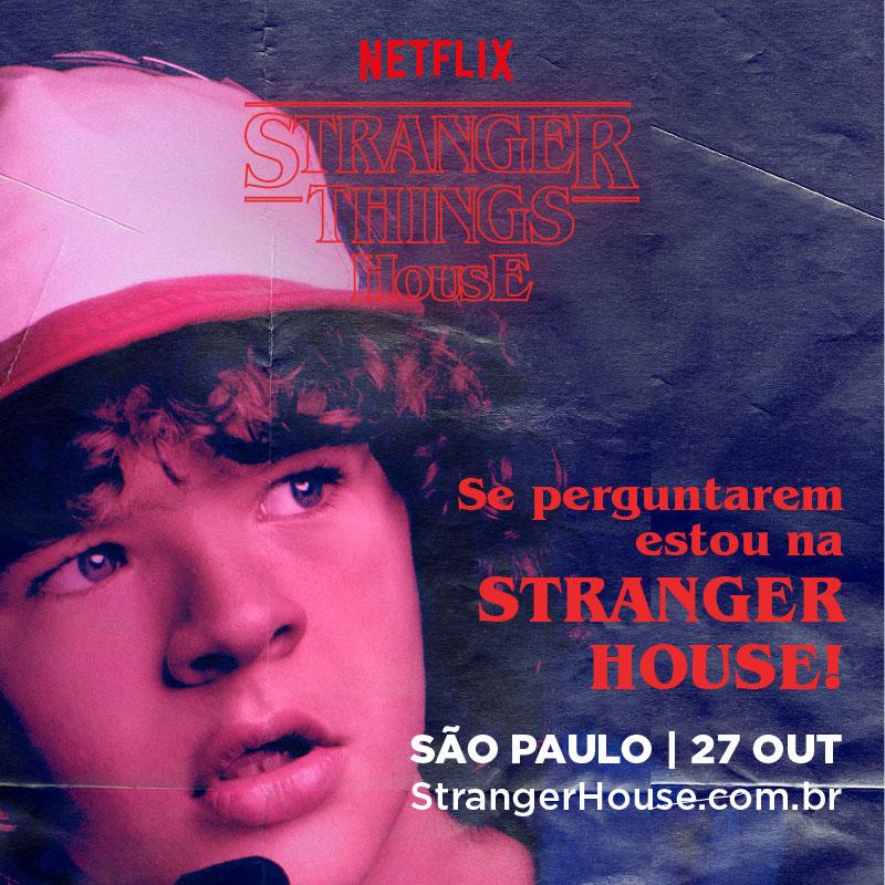 Casa Stranger Things -Stranger House Netflix Dustin