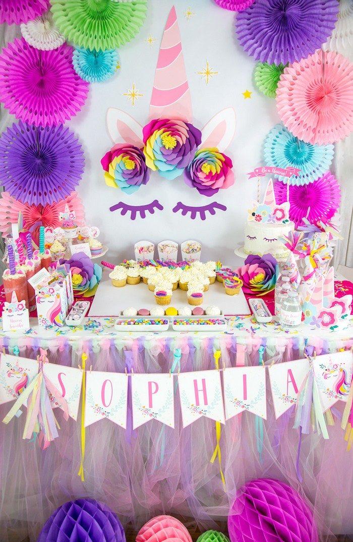 Festa Unicornio cores quentes, vibrantes