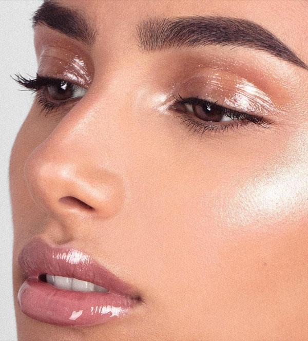 Pele glow - Maquiagem natural com brilho