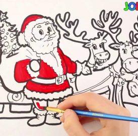 Desenhos de Natal para imprimir e colorir para que as crianças entrem no espírito natalino